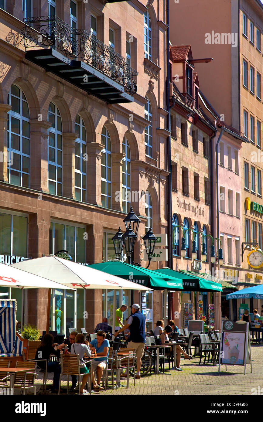 Shopping Area, Nuremberg, Bavaria, Germany - Stock Image