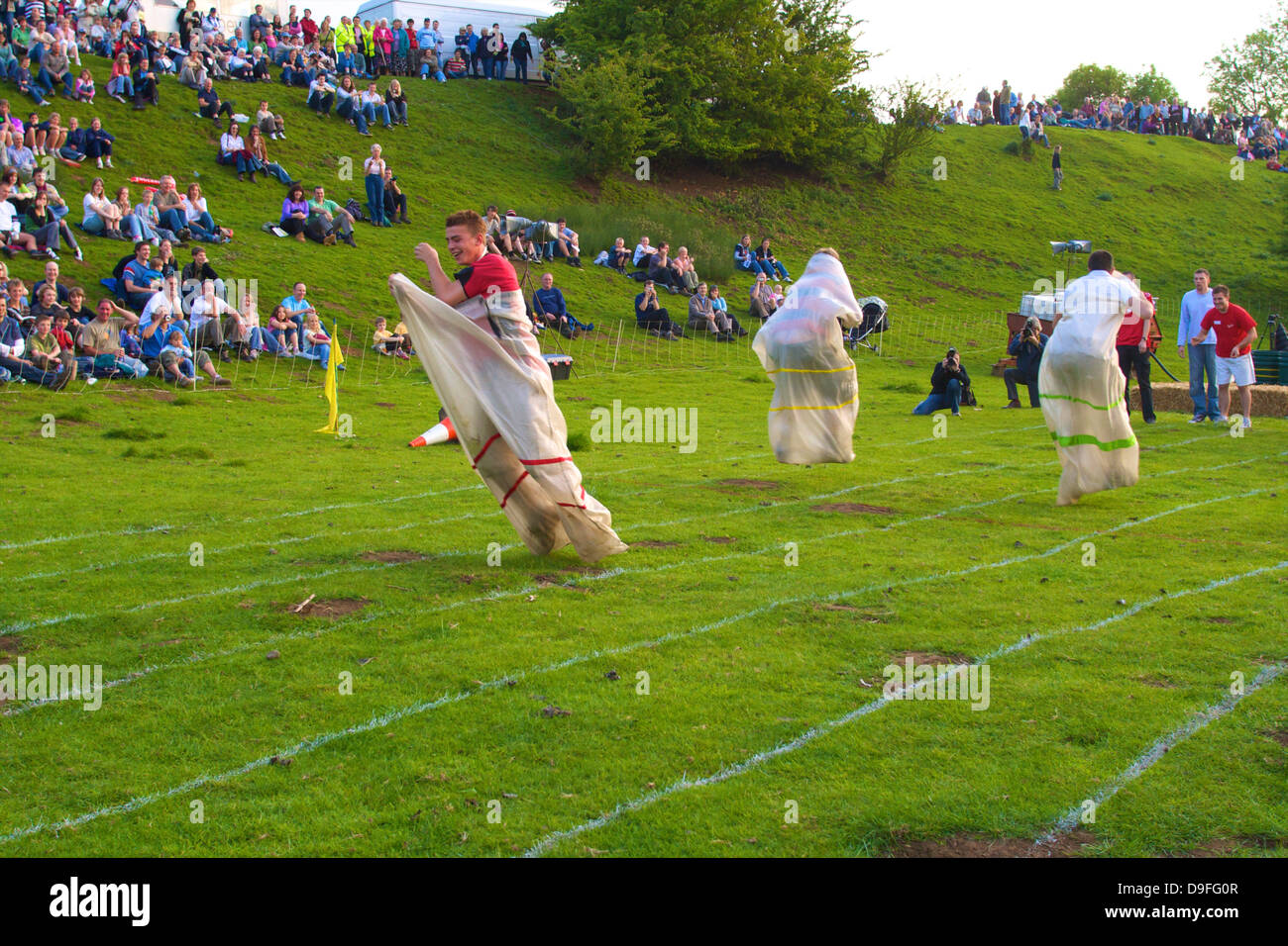 Robert Dover's Cotswold Olimpick Games, Chipping Camden, Gloucestershire, England, UK - Stock Image
