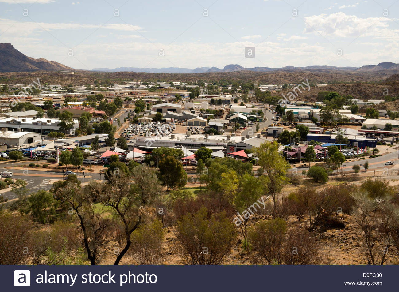 Alice Springs, looking south from Anzac Hill; Northern Territories, Australia - Stock Image