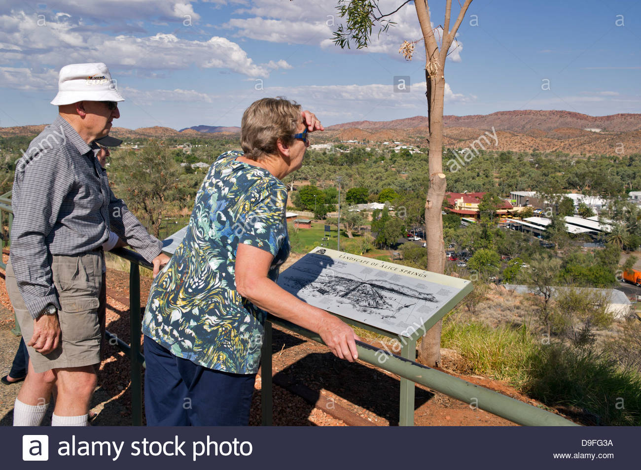 Top of Anzac Hill, overlooking Alice Springs; Northern Territories, Australia - Stock Image