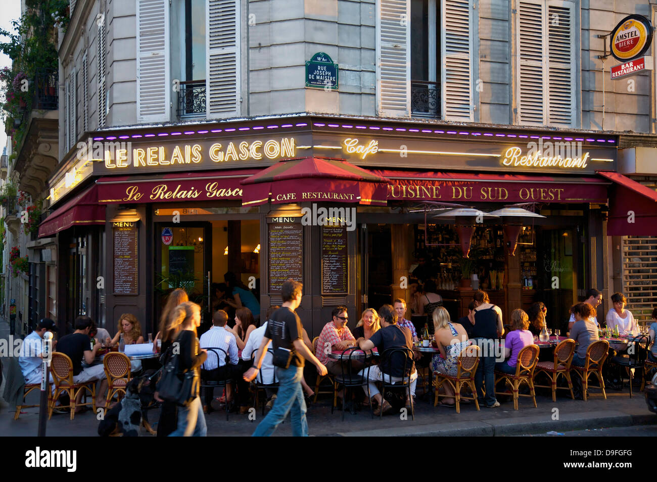 Restaurant In Montmartre Paris France Stock Photo 57505268 Alamy