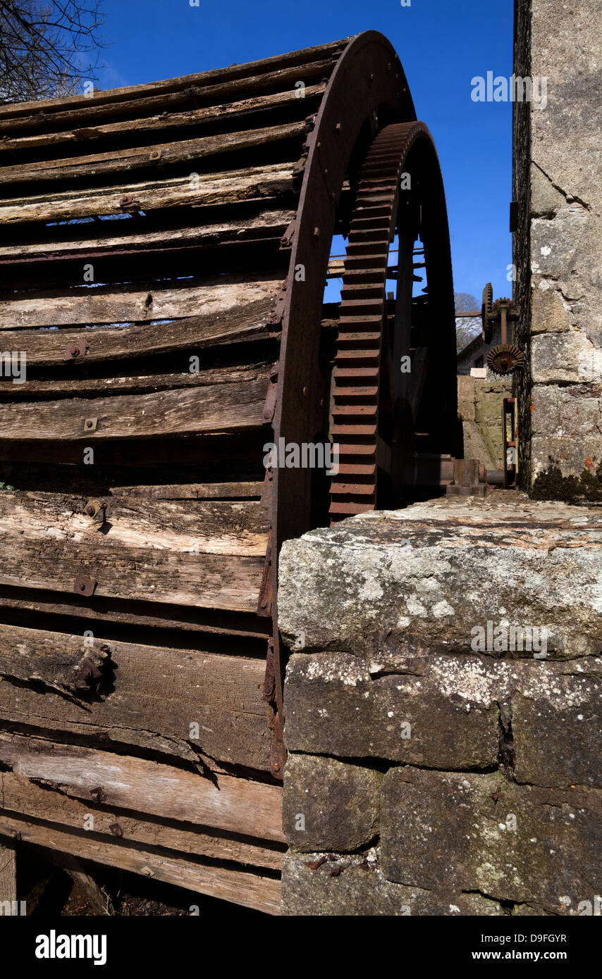 Murphy's old water wheel and flour-mill on the River Corock, circa 1851, Foulkesmill, County Wexford, Ireland - Stock Image
