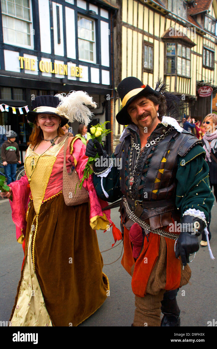 Shakespeare's Annual Birthday Parade, Stratford upon Avon, Warwickshire, England, UK - Stock Image