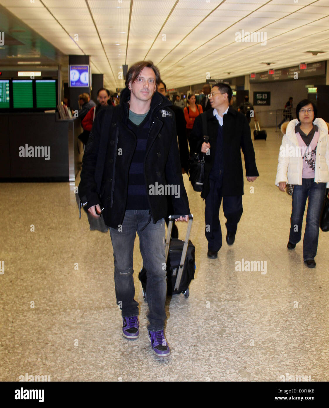 Donovan Leitch  arrives at Washington Dulles International Airport ahead of a Camp Freddy benefit performance Washington - Stock Image