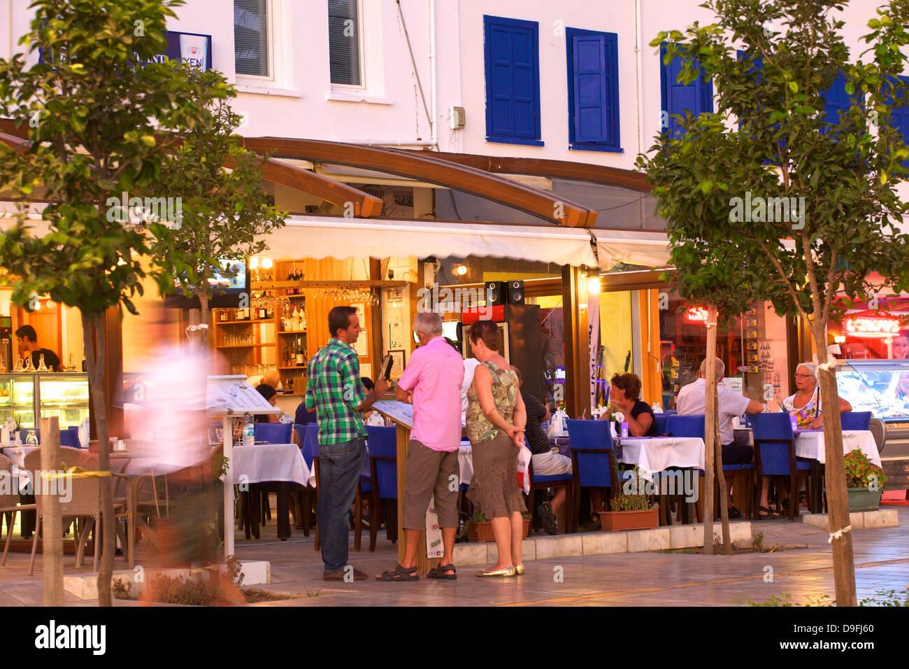Restaurants at Bodrum, Bodrum Peninsula, Anatolia, Turkey Minor, Eurasia - Stock Image
