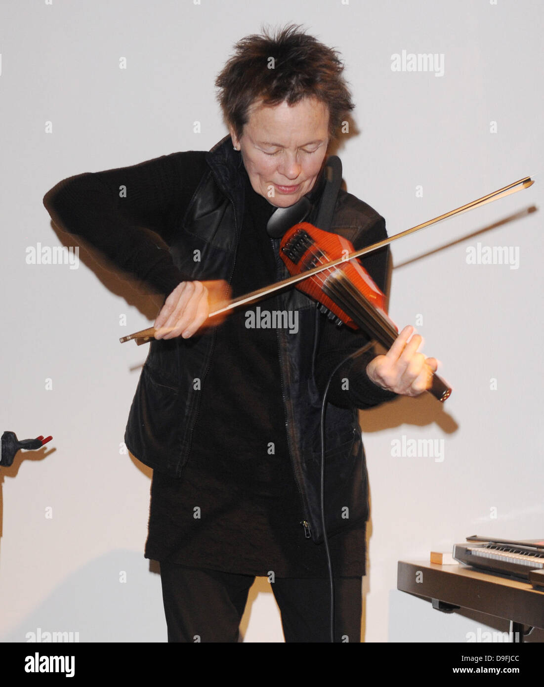 Laurie Anderson  performs 'Duets On Ice' at Barbican Centre London, England- 03.03.11 - Stock Image