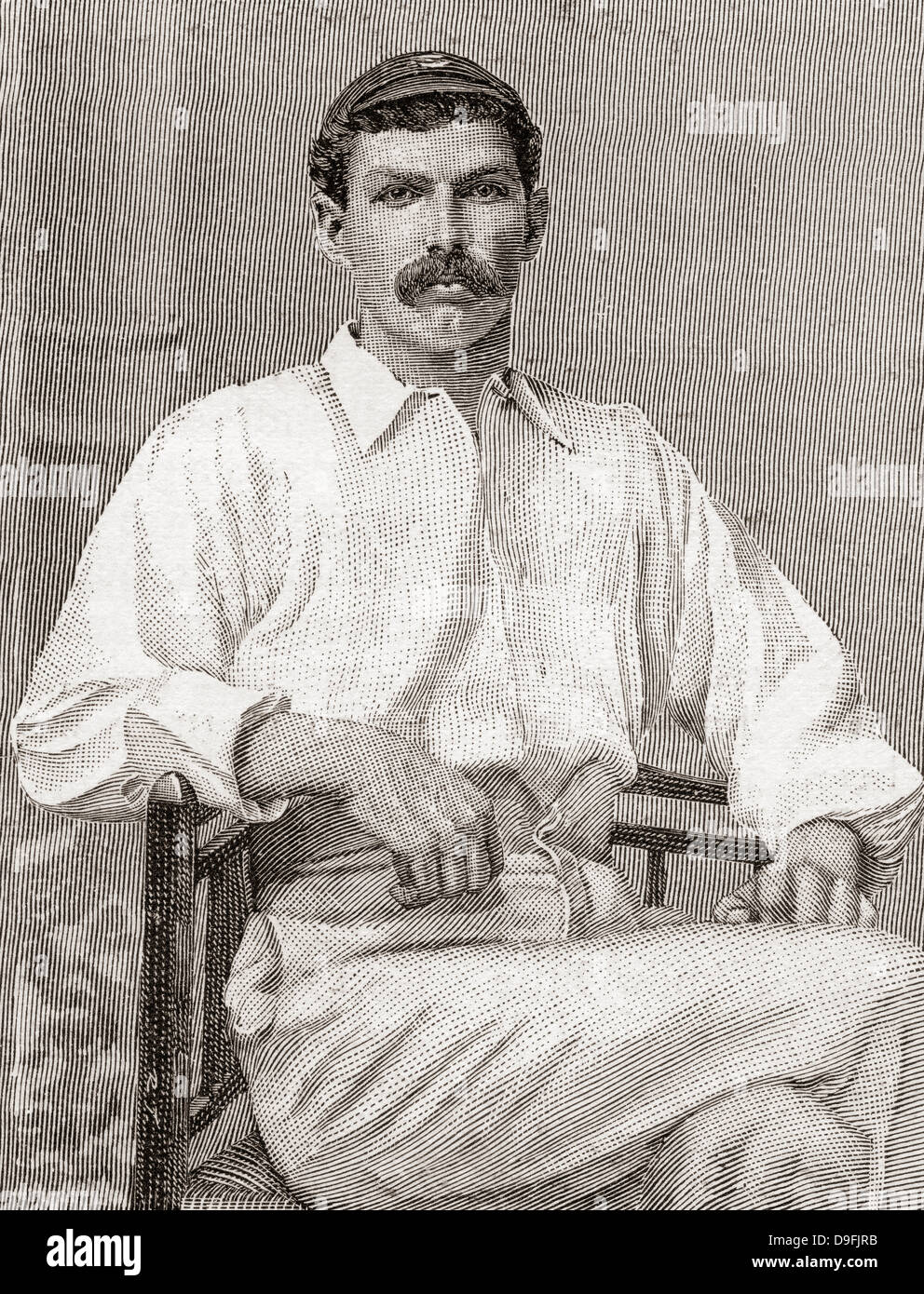 Tom Richardson, 1870– 1912. English cricketer. - Stock Image