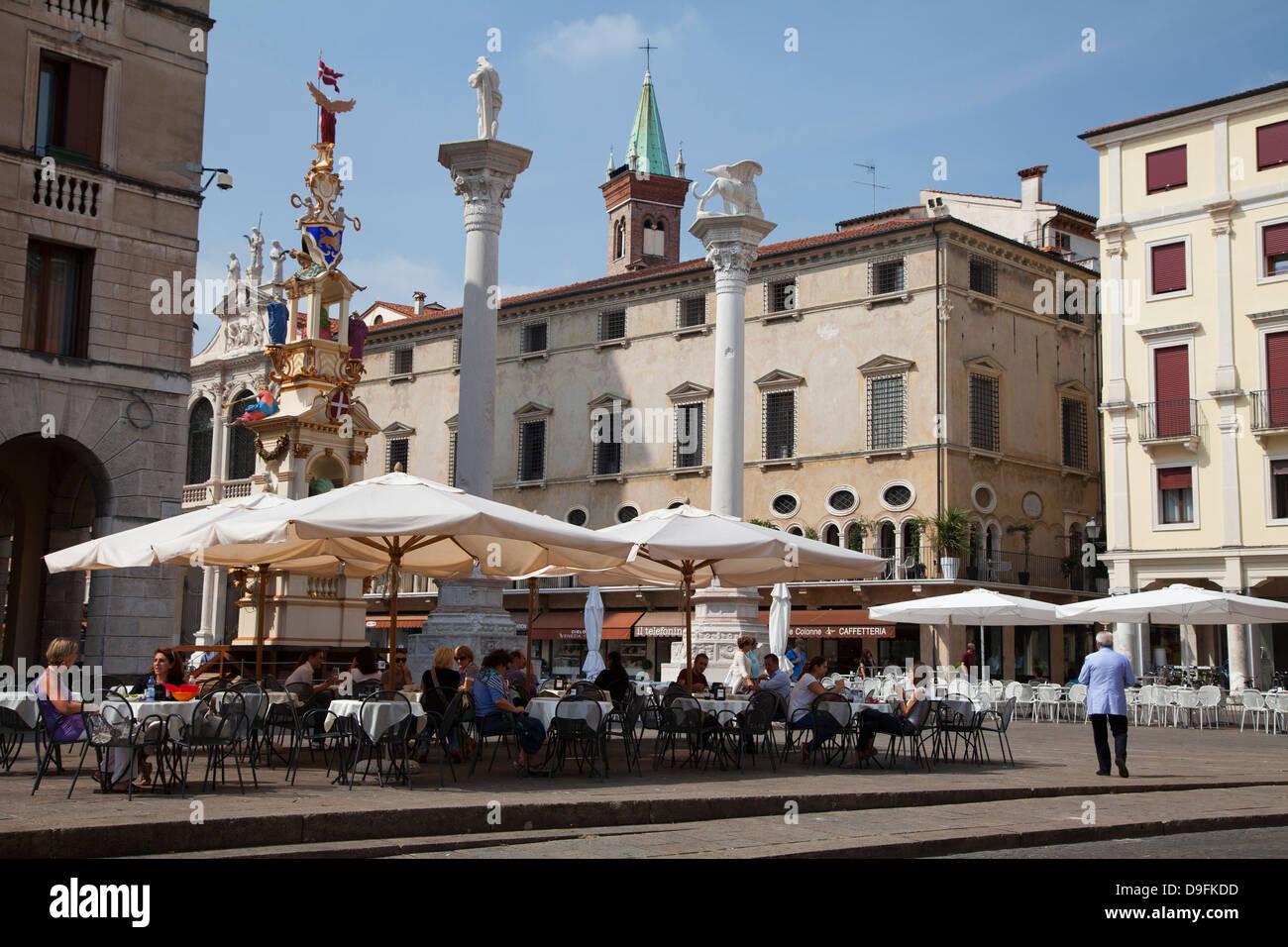 Piazza dei Signori, Vicenza, UNESCO World Heritage Site, Veneto, Italy - Stock Image