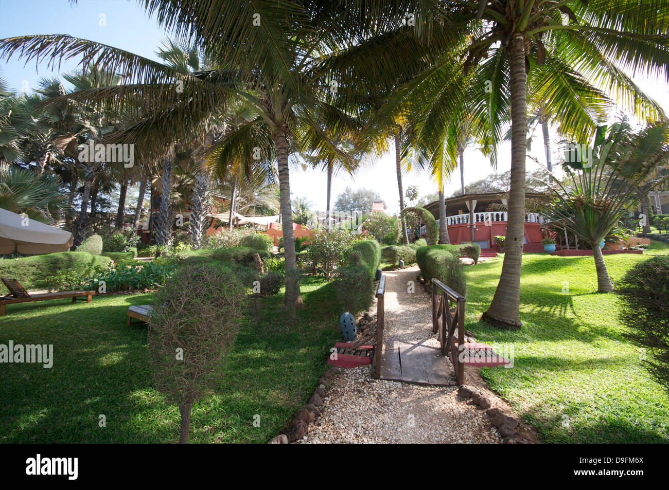 Ngala Lodge, situated between the resorts of Bakau and Fajara, near Banjul, Gambia, West Africa, Africa - Stock Image