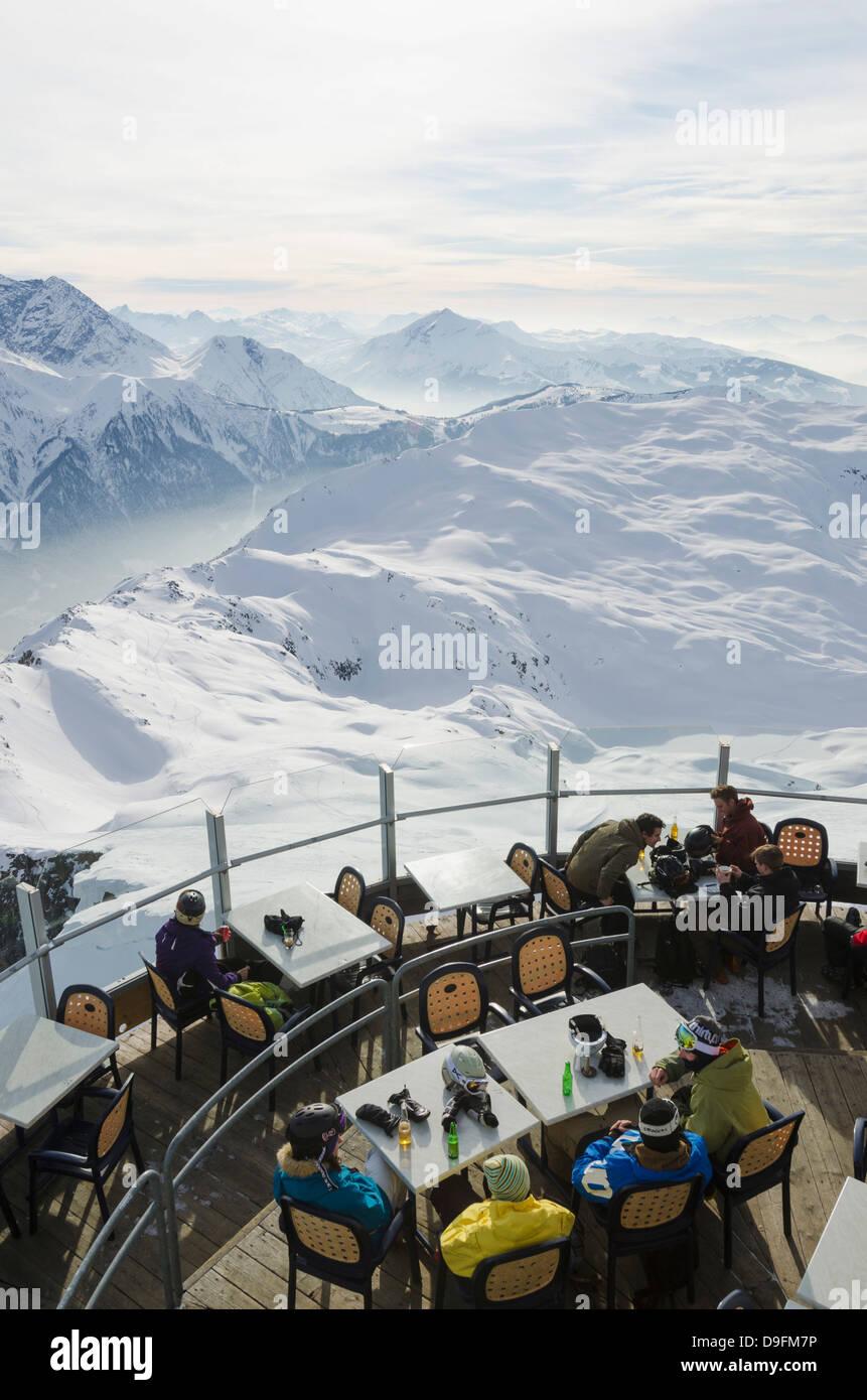 Brevant restaurant, Chamonix, Haute-Savoie, French Alps, France - Stock Image