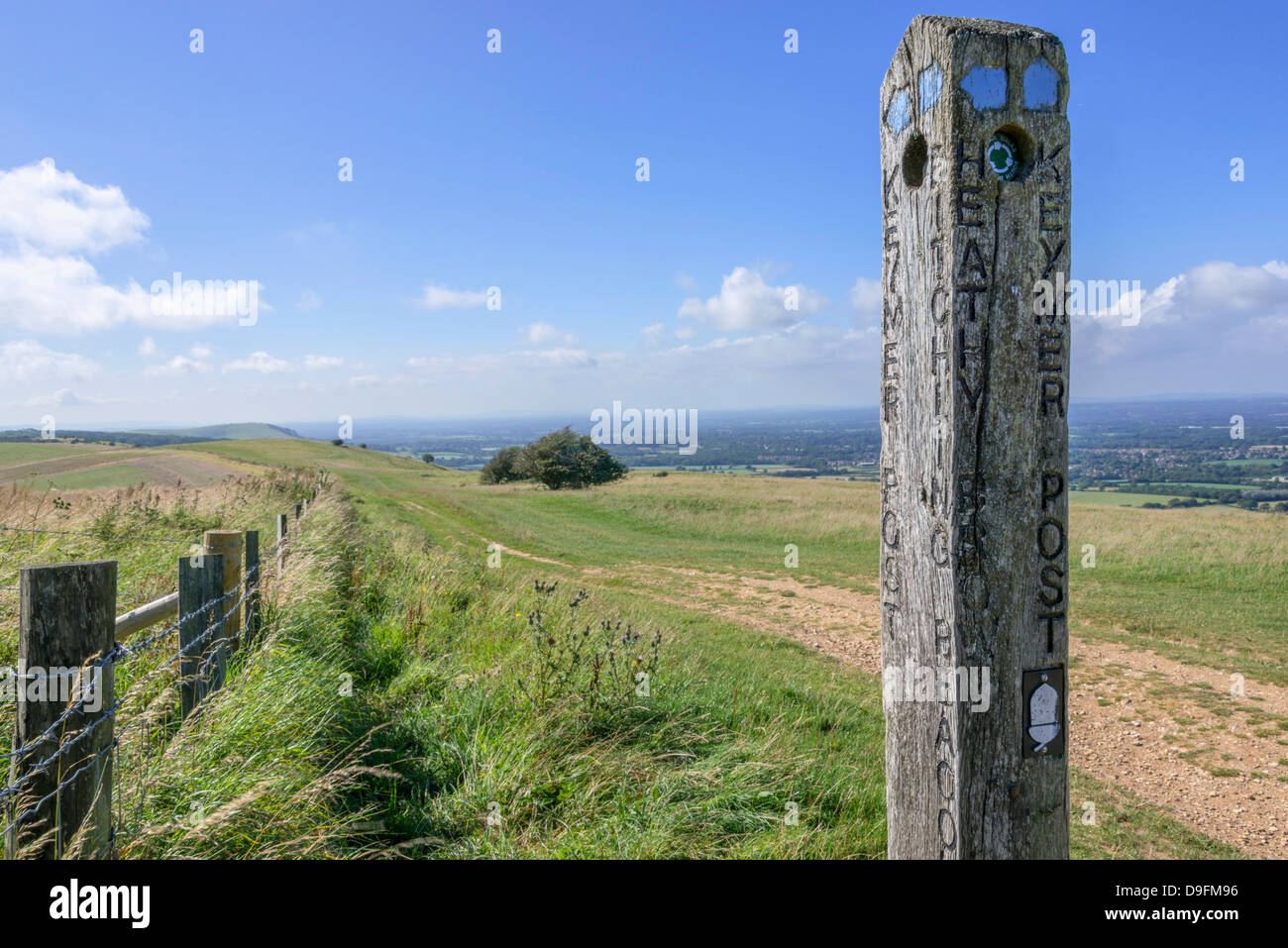 View from the South Downs Way footpath, Sussex, England, UK - Stock Image