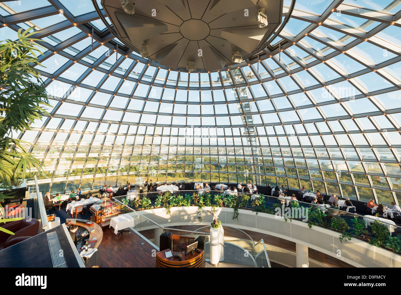 Perlan, The Pearl restaurant, Reykjavik, Iceland, Polar Regions - Stock Image