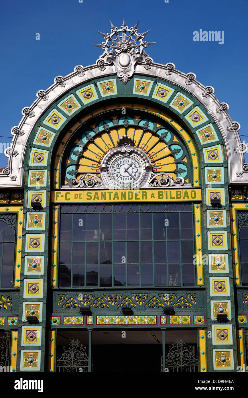 Bilbao train station, Bilbao, Euskadi, Spain - Stock Image