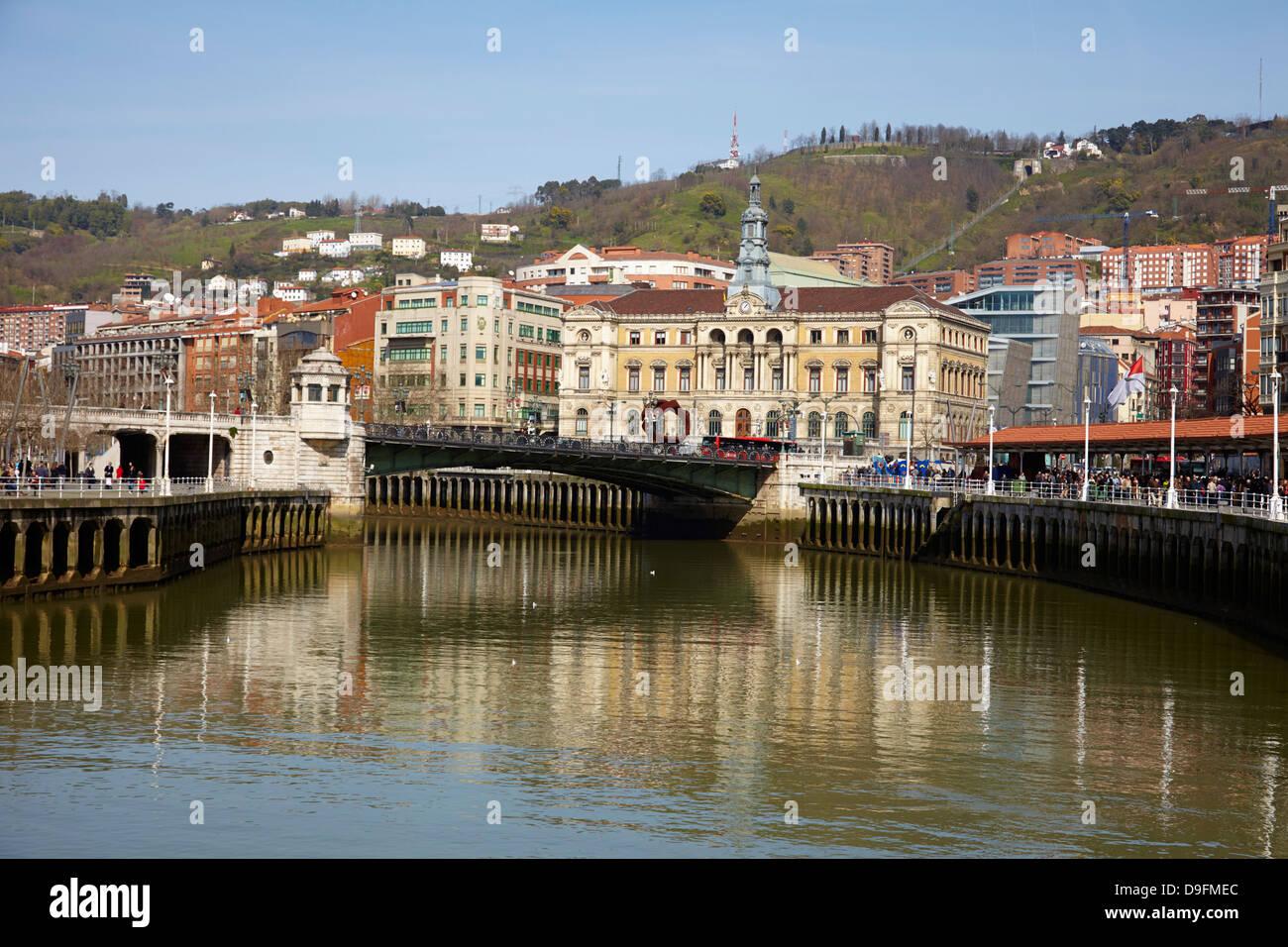 River Nervion, Bilbao, Euskadi, Spain - Stock Image