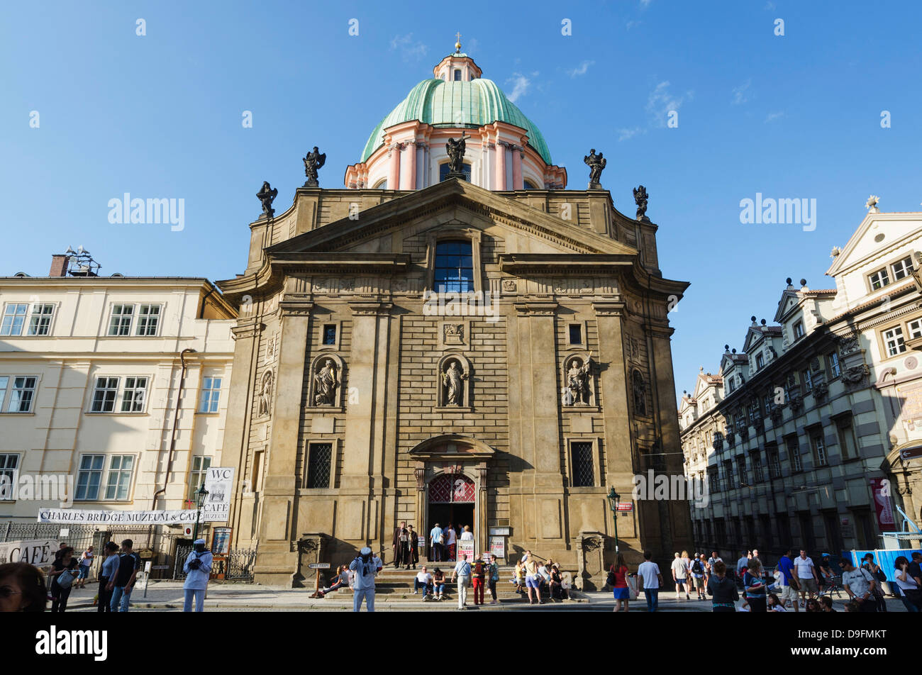 Facade of church of St. Francis, Prague, Czech Republic - Stock Image