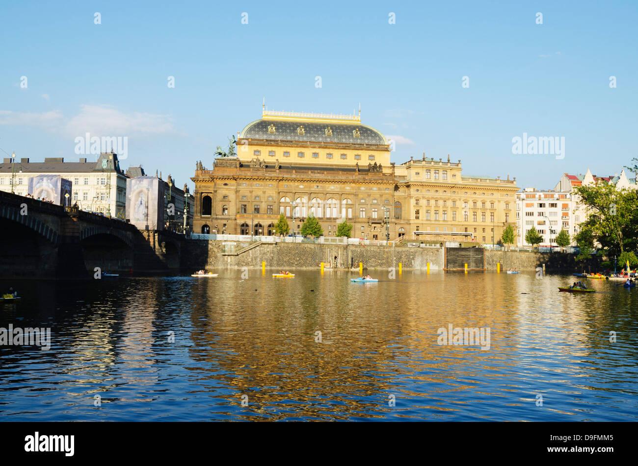 National Theatre, UNESCO World Heritage Site, Prague, Czech Republic - Stock Image