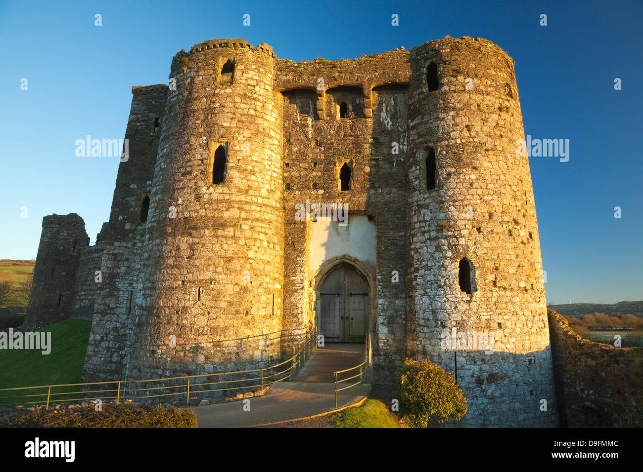 Kidwelly Castle, Carmarthenshire, Wales, UK - Stock Image