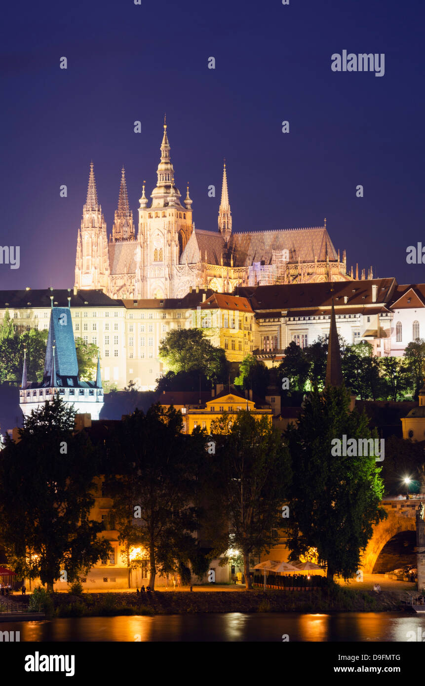 St. Vitus Cathedral and Prague Castle, UNESCO World Heritage Site, Prague, Czech Republic - Stock Image