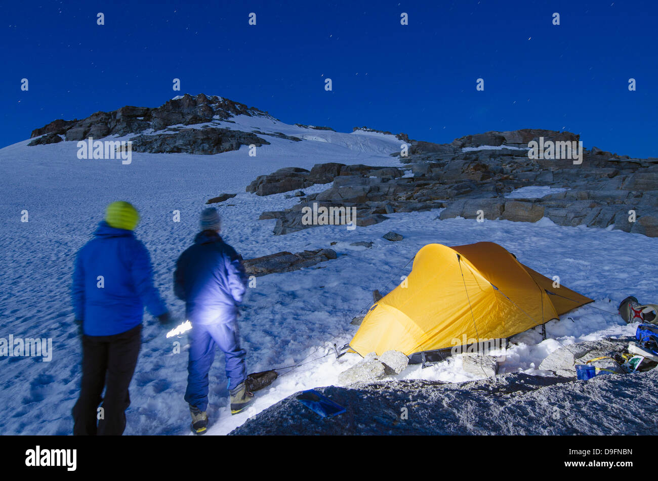 Gran Paradiso, 4061m, highest peak entirely in Italy, Gran Paradiso National Park, Aosta Valley, Italian Alps, Italy - Stock Image