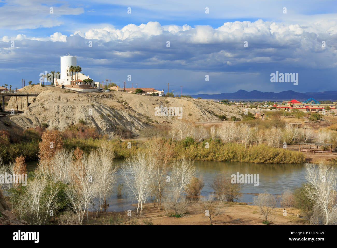St. Thomas Indian Mission and Colorado River, Yuma, Arizona, USA - Stock Image