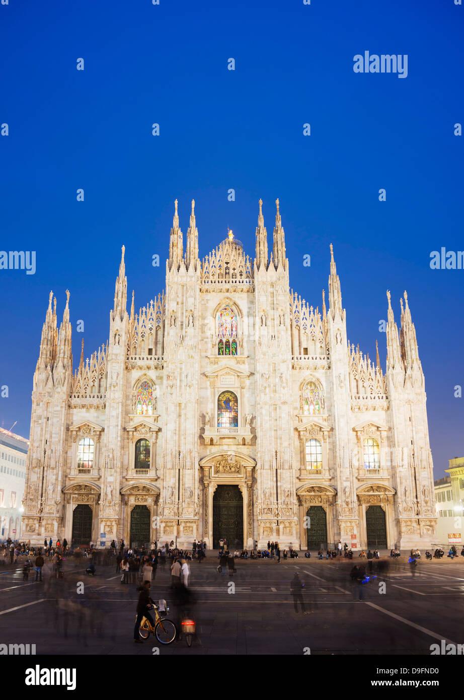 Duomo (Milan Cathedral), Milan, Lombardy, Italy - Stock Image