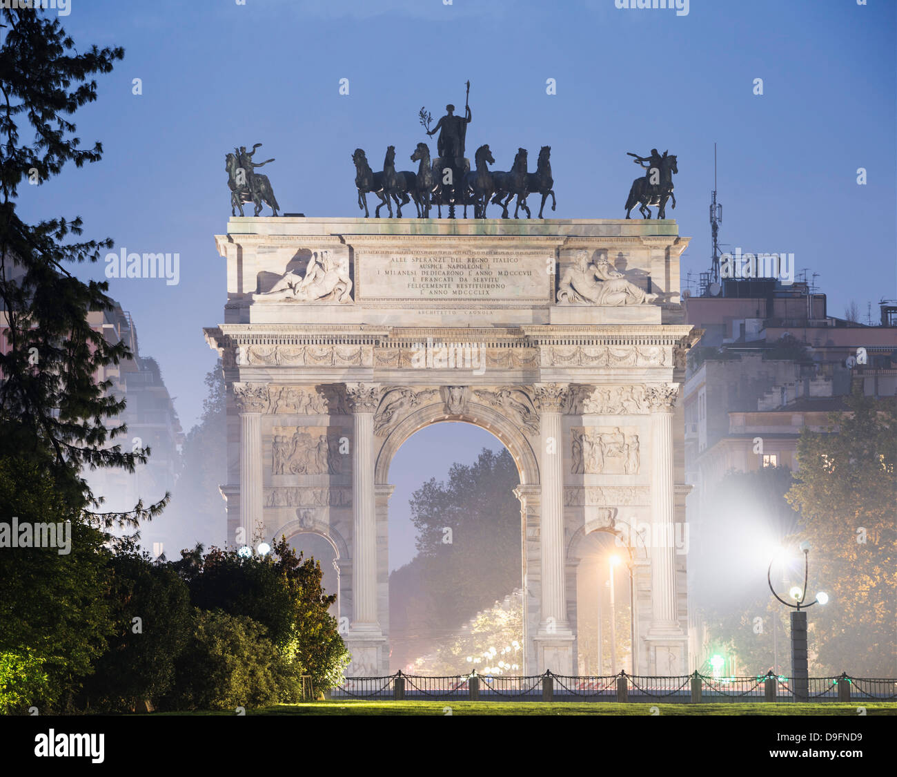 Arco della Pace, Milan, Lombardy, Italy - Stock Image