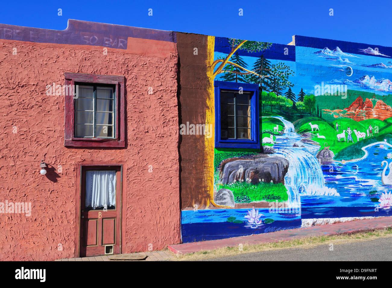 Mural in Old Town Cottonwood, Arizona, USA - Stock Image