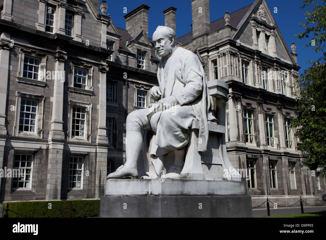 Sculpture of George Salmon at Trinity College Dublin Ireland - Stock Image