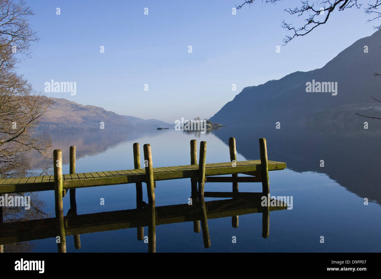 Lake Ullswater, Lake District National Park, Cumbria, England, UK - Stock Image