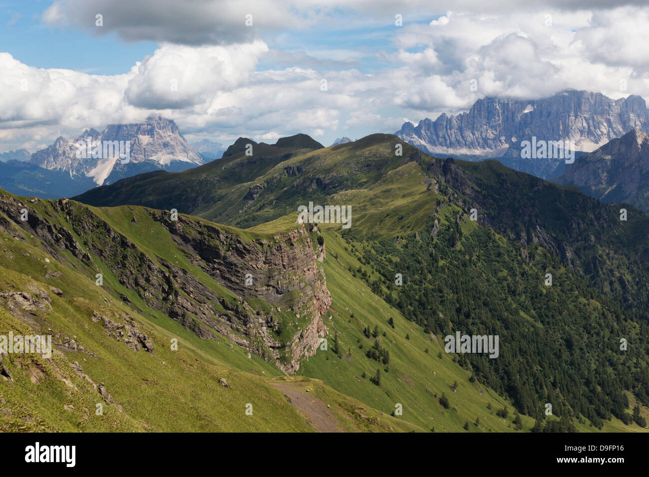 Rugged mountains in the Dolomites, Italy - Stock Image