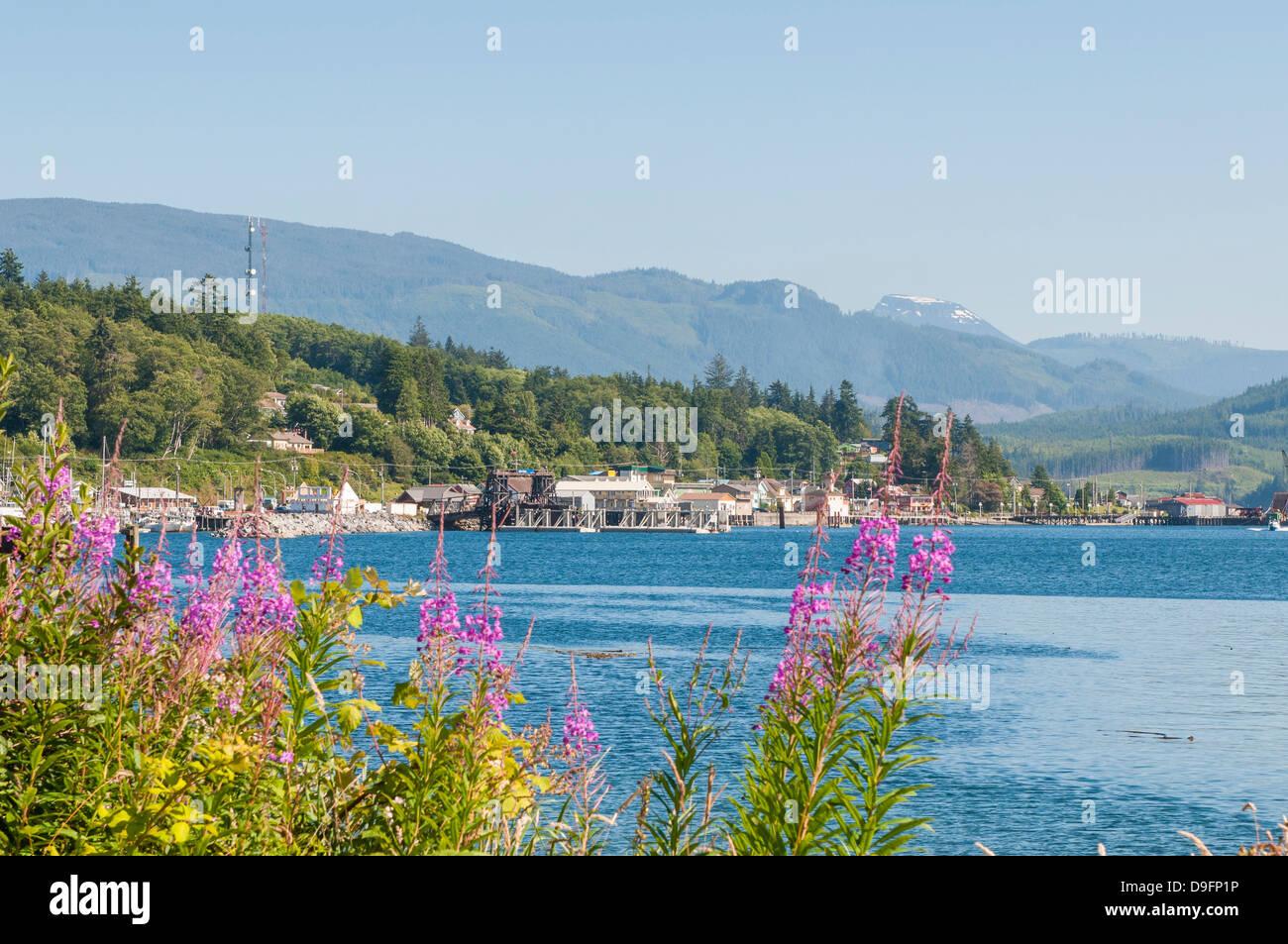Alert Bay harbour, British Columbia, Canada - Stock Image