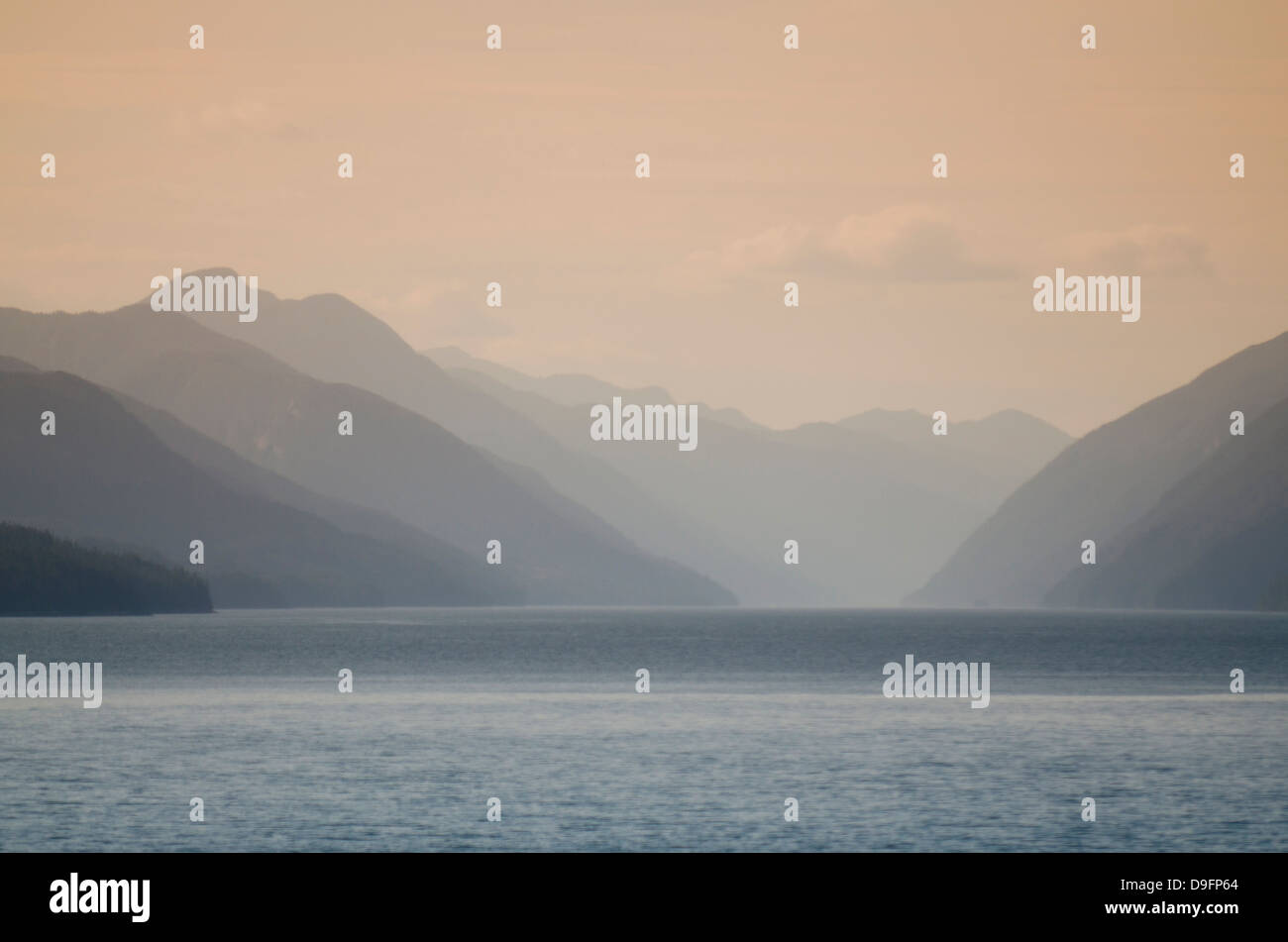 Inside Passage, British Columbia, Canada - Stock Image