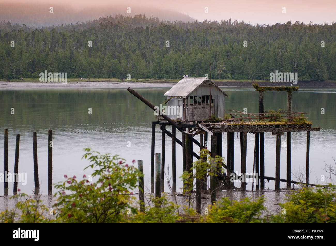North Pacific Cannery National Historic Site Museum, Prince Rupert, British Columbia, Canada - Stock Image