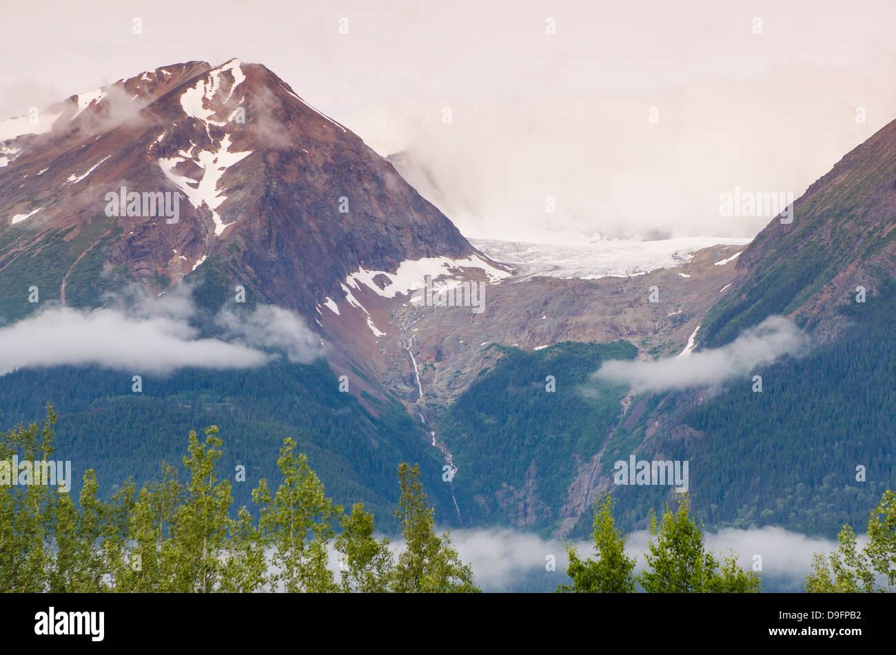 Hudson Bay Mountain and Kathlyn Glacier, Smithers, British Columbia, Canada - Stock Image