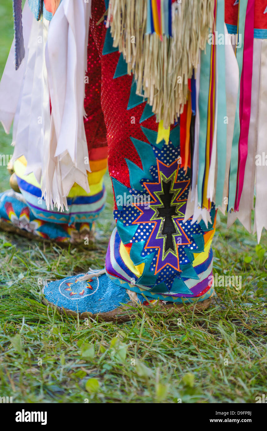 Powwow in Canim Lake, British Columbia, Canada - Stock Image