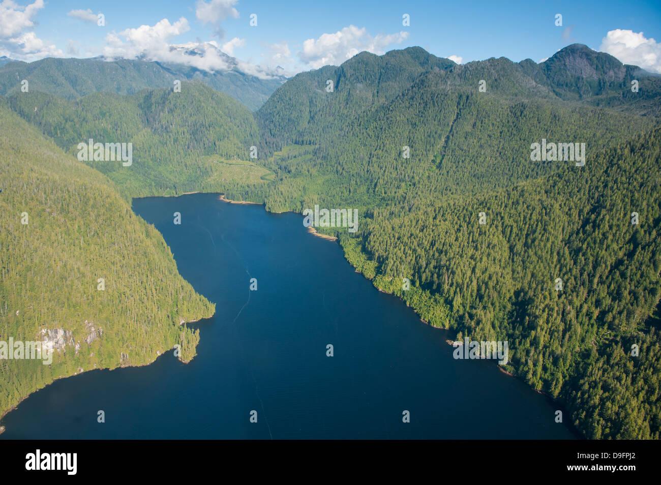 Coastal scenery in Great Bear Rainforest, British Columbia, Canada - Stock Image