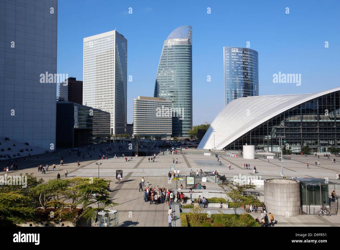 La Defense business district, Paris, France Stock Photo