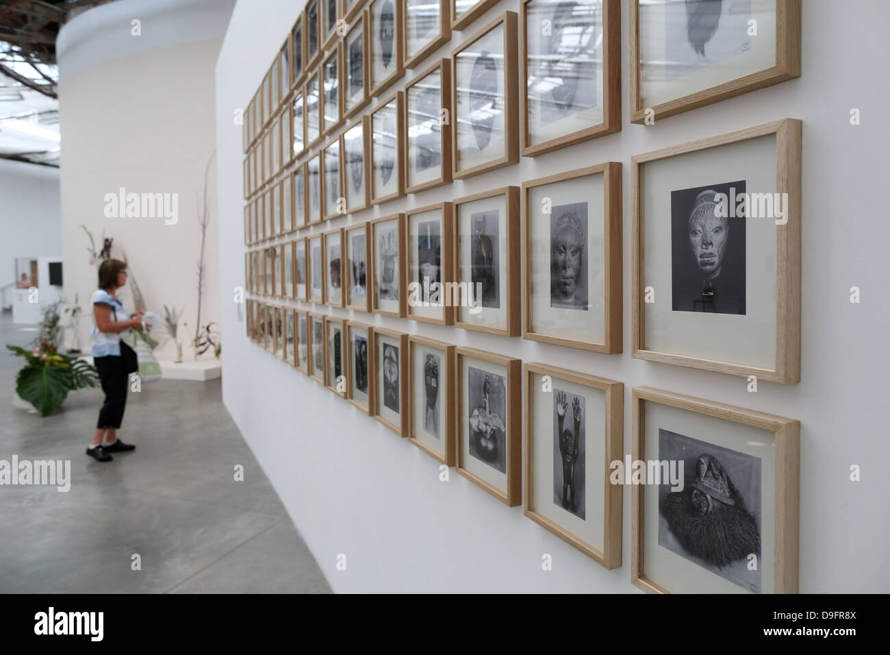 Visitor at an exhibition in the Museum of Modern Art of the city of Paris, Palais de Tokyo, Paris, France - Stock Image