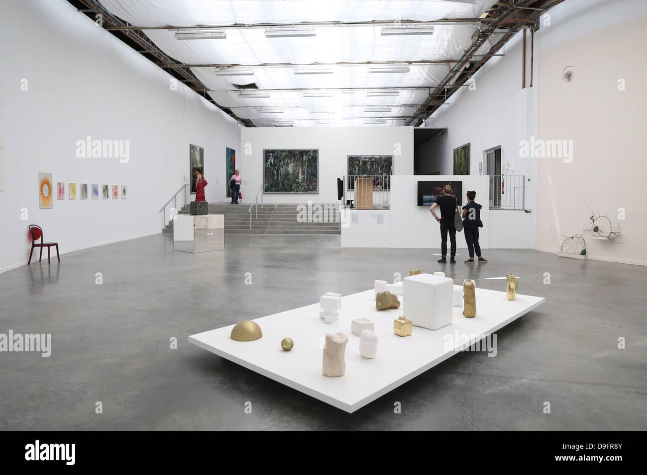 Exhibition space, Museum of Modern Art of the city of Paris, Palais de Tokyo, Paris, France - Stock Image