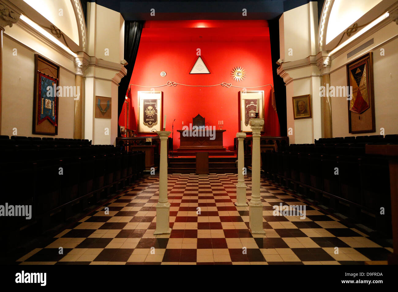 The franklin delano roosevelt masonic lodge room in the grande loge the franklin delano roosevelt masonic lodge room in the grande loge de france paris france sciox Images