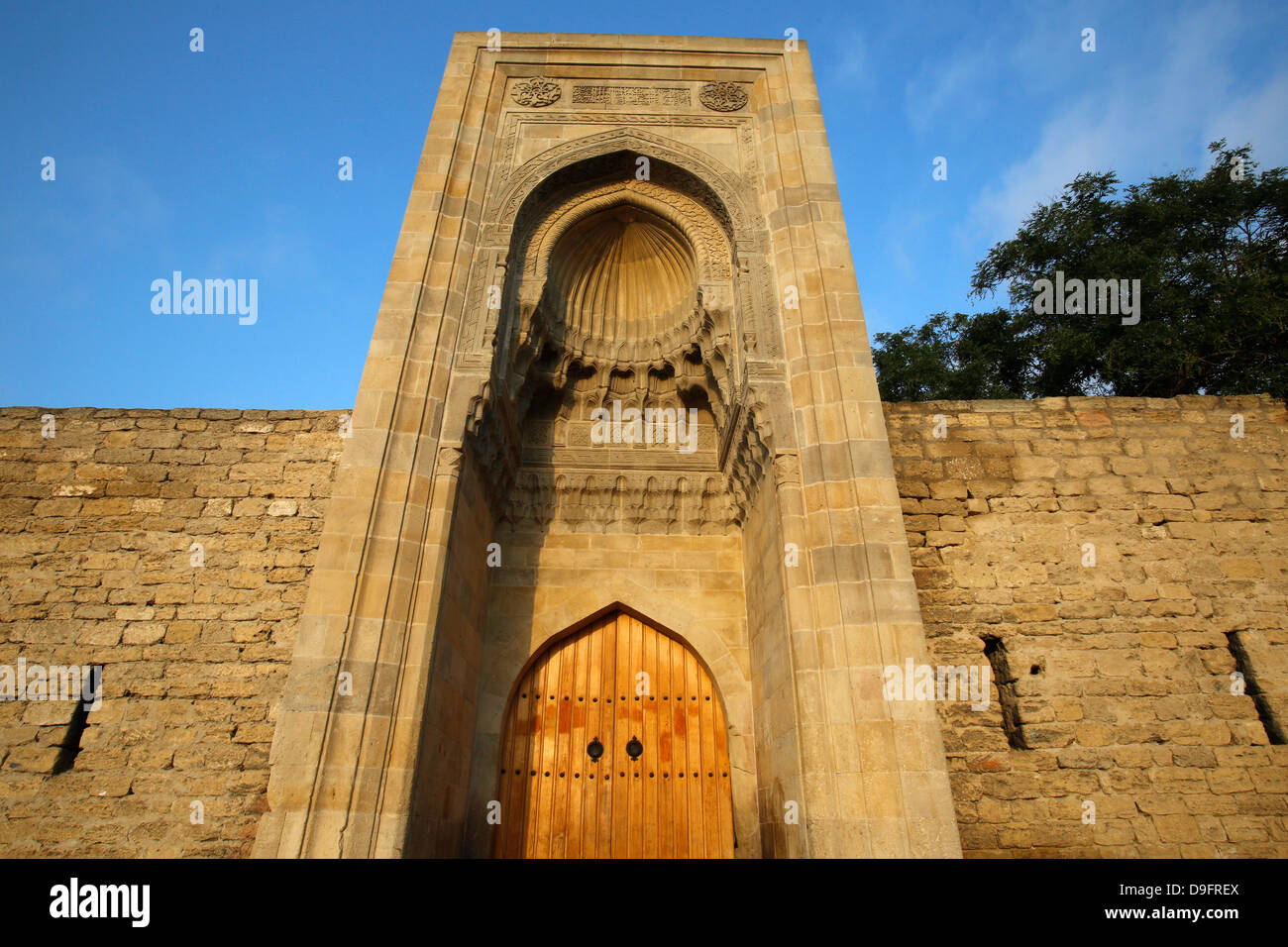 Eastern portal (Murad Gate) of Shirvanshah's palace complex dating from 1585 in Baku Old City, Azerbaijan, Central - Stock Image