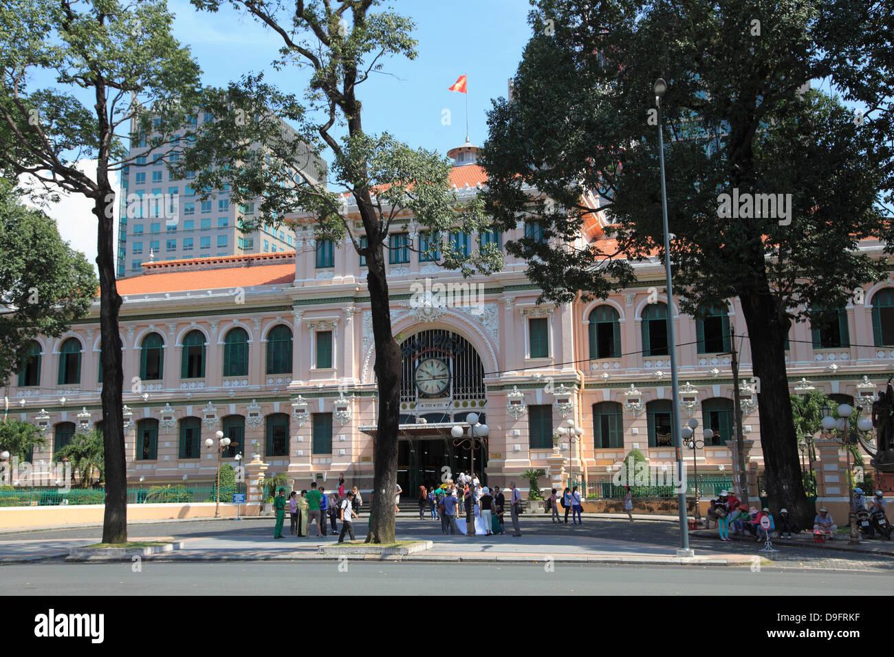 Central Post Office, Ho Chi Minh City (Saigon), Vietnam, Indochina, Southeast Asia - Stock Image