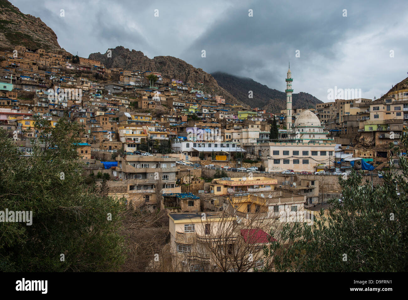 Ancient town of Akre, Iraq Kurdistan, Iraq, Middle East - Stock Image