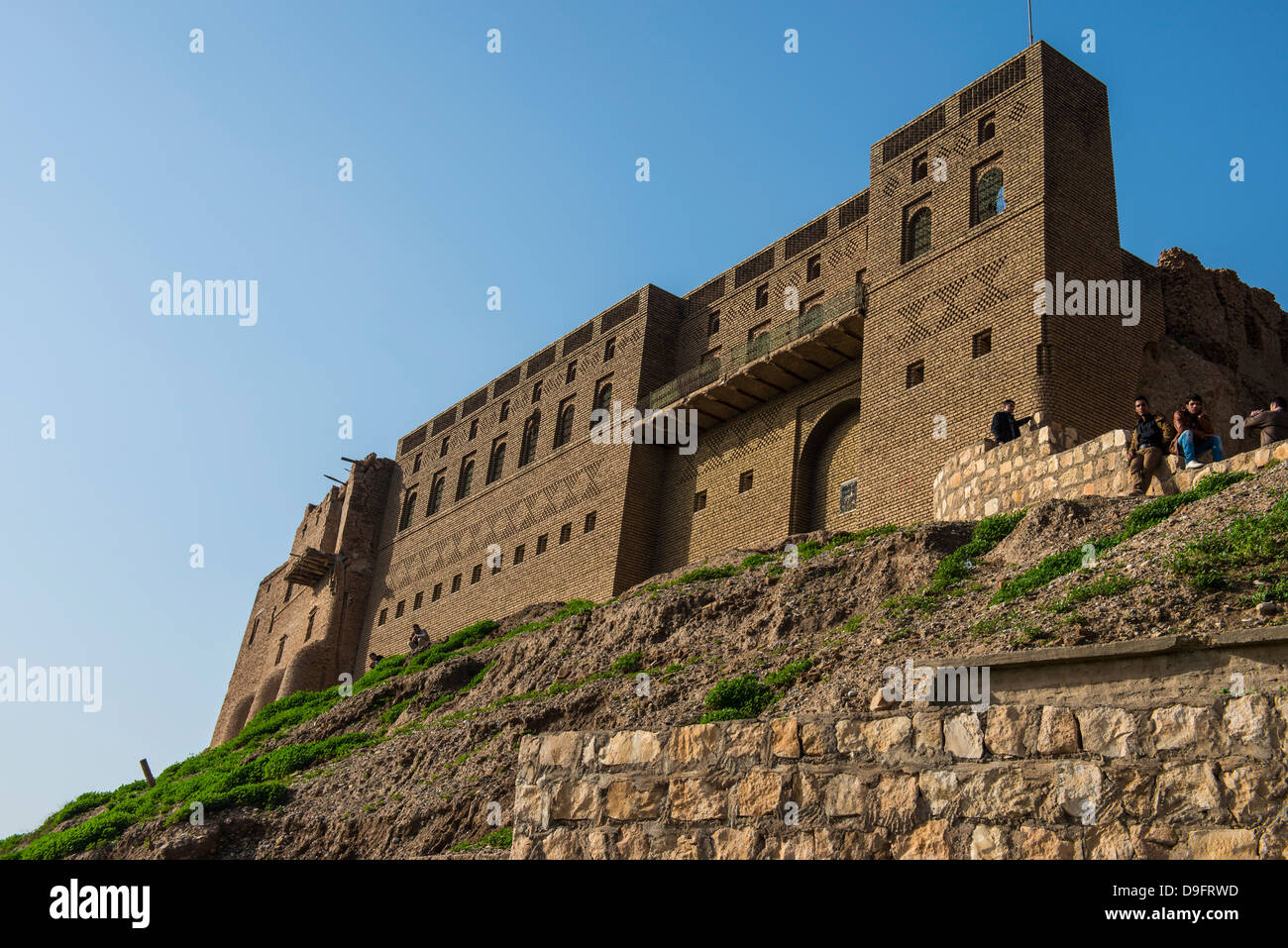 The citadel of Erbil (Hawler), capital of Iraq Kurdistan, Iraq, Middle East - Stock Image