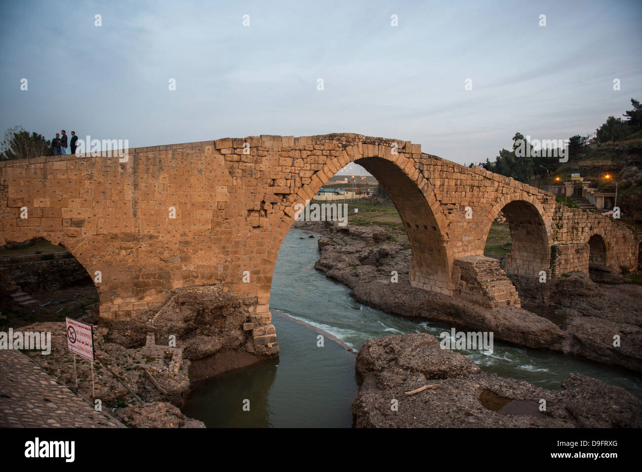 The Dalai bridge from the time of the Abbasids in Zakho on the border of Turkey, Iraq Kurdistan, Iraq, Middle East - Stock Image