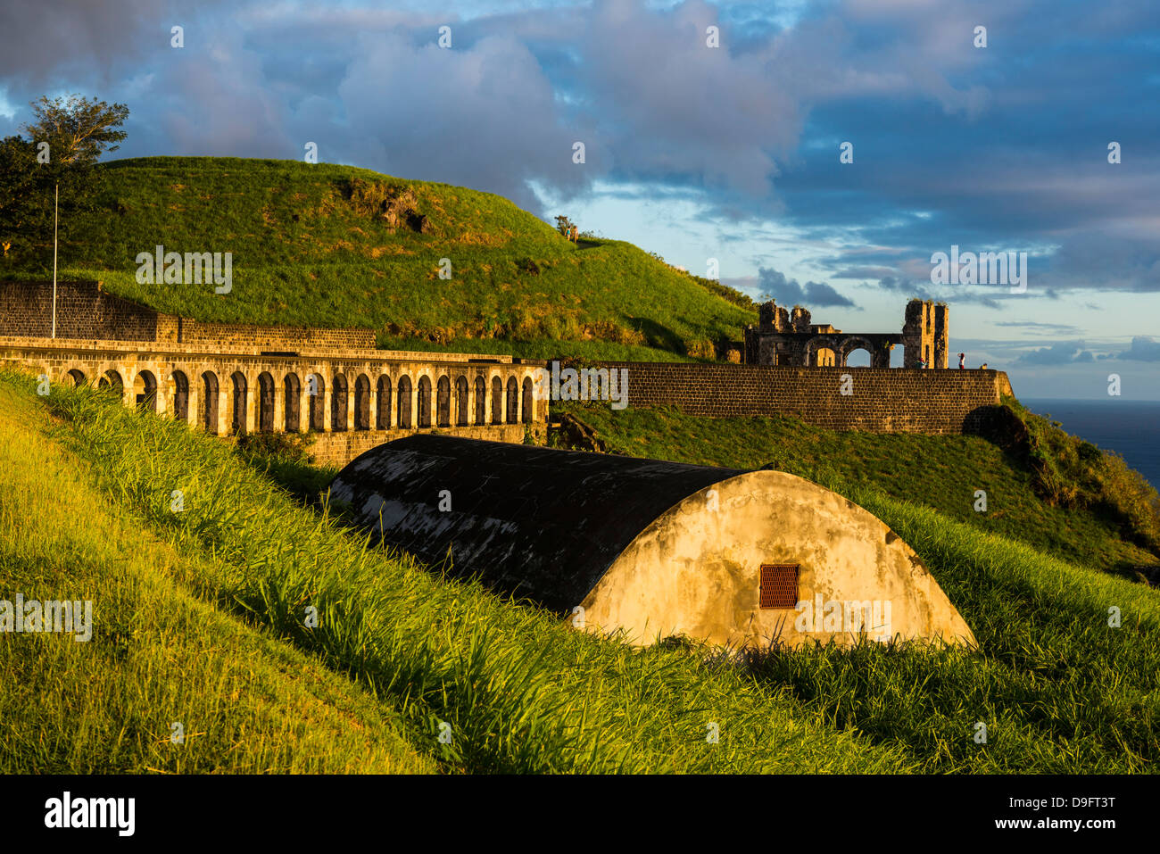 Brimstone Hill Fortress, UNESCO World Heritage Site, St. Kitts, St. Kitts and Nevis, Leeward Islands, West Indies, - Stock Image