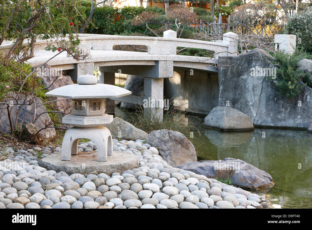 Stone Lanterns, Japanese Garden, Monaco