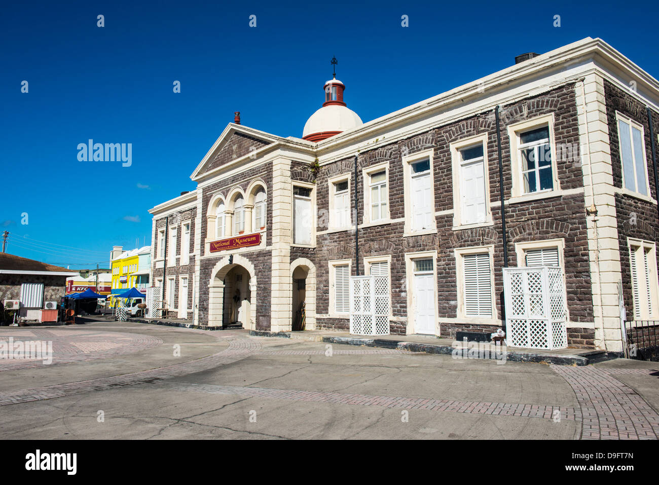 The renovated pier in Basseterre, St. Kitts, capital of St. Kitts and Nevis, Leeward Islands, West Indies, Caribbean - Stock Image