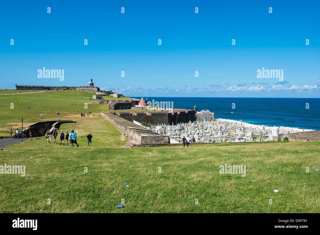 San Felipe del Morro, UNESCO World Heritage Site, San Juan Historic Site, Puerto Rico, Caribbean - Stock Image