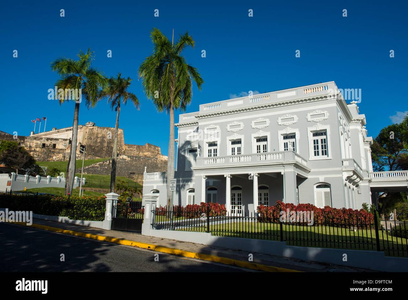 The casino of San Juan, Puerto Rico, West Indies, Caribbean - Stock Image